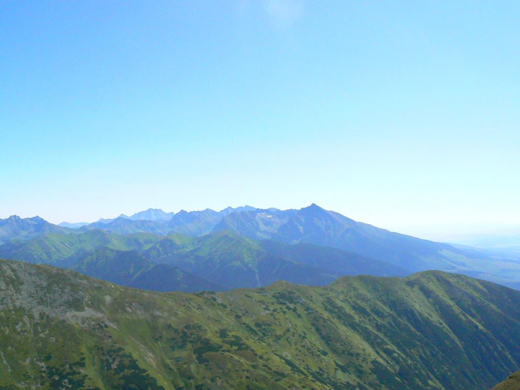 Výhľad na Vysoké Tatry a Kriváň