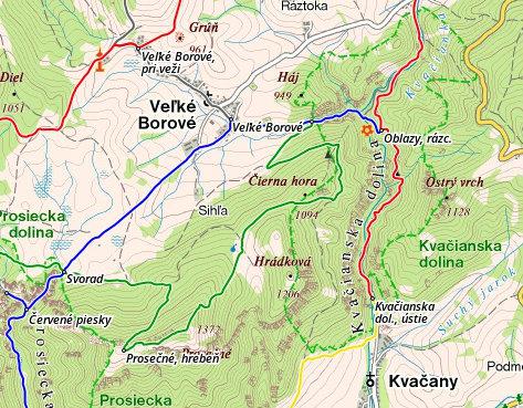 Mapa - Oblazy