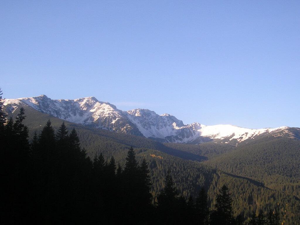 Výhľad na hrebeň Nízkych Tatier