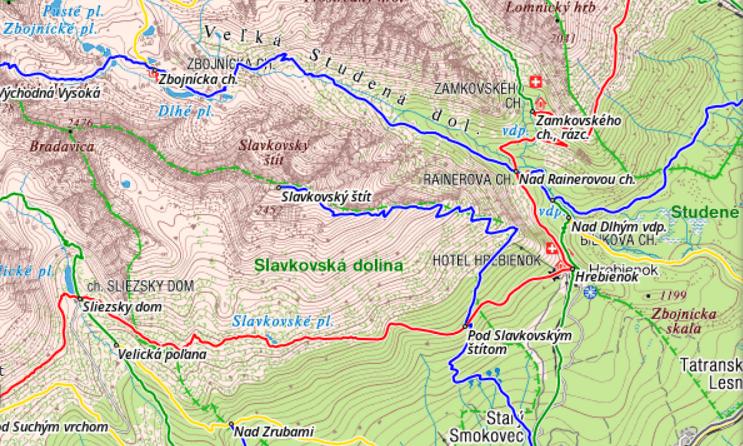 Zbojnícka chata - mapa